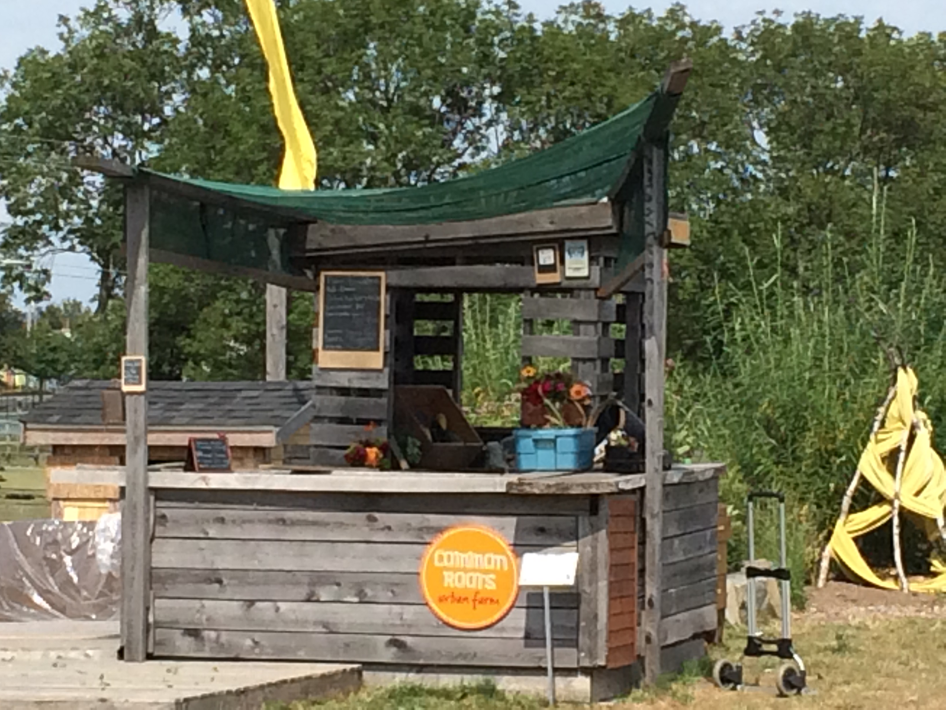 This what our tiny store, our on-farm market stand, looks like.  Don't be afraid to come in!
